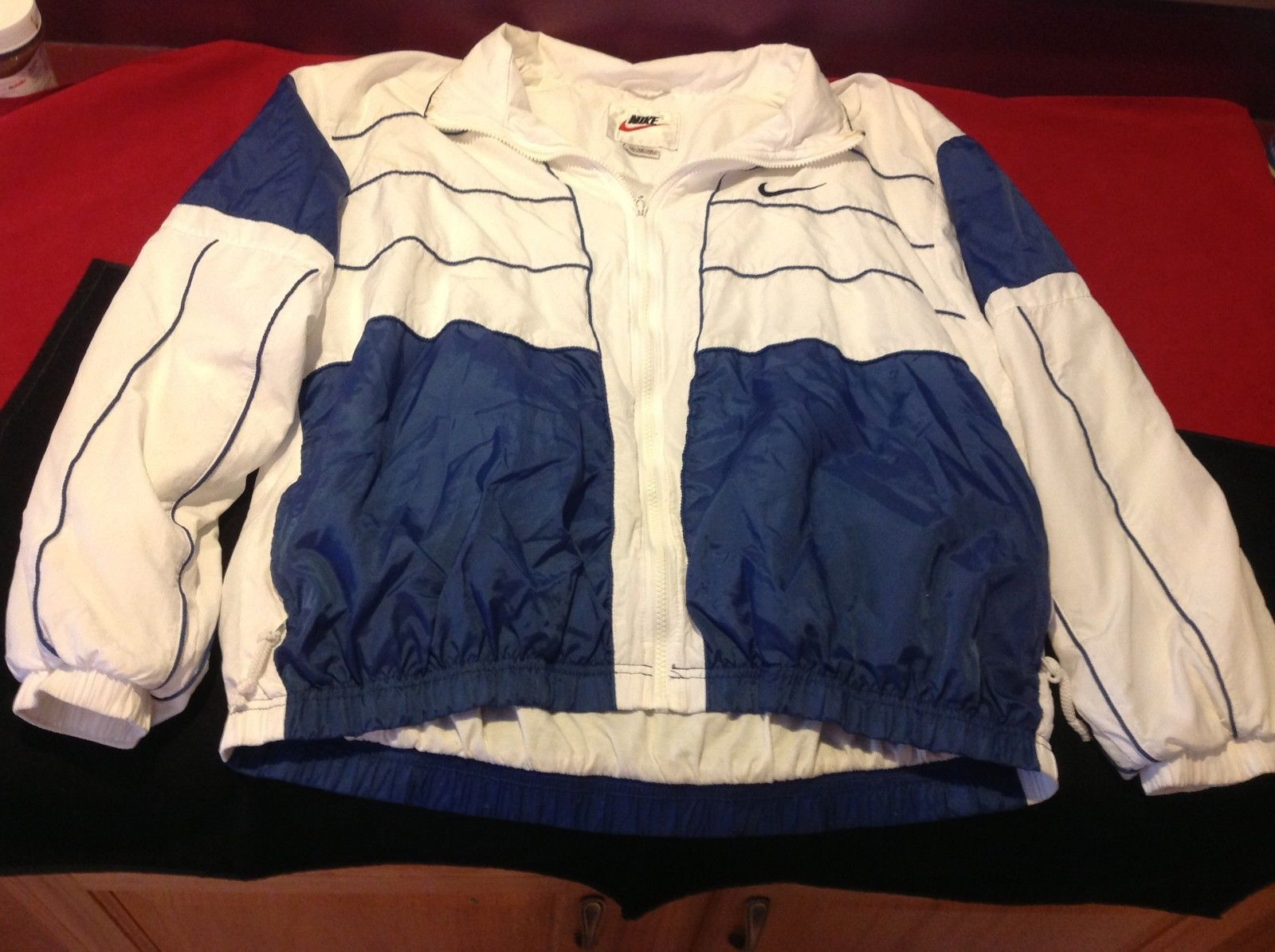 Nike Unisex blue white Jacket with zipper size xl made in Thailand