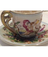 Occupied Japan hand painted tea cup and saucer  small demitasse - $173.25