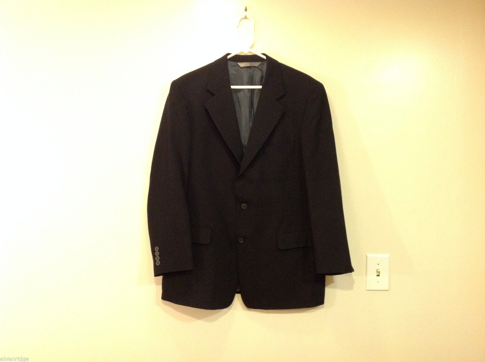 Nordstrom Signia Three Buttons Black Blazer Suit Jacket Size 41R