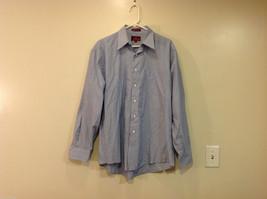 Nordstrom Light Blue Tiny Stripes Long Sleeve Shirt, Size 16/35, 100% cotton