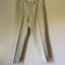 Off White Casual Pants with Cuffed Bottom No Tag Measurements Below