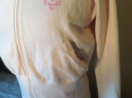Light Pink Sweatshirt Zip Up Long Sleeve NAFNAF Lets Dance N on Back Size Large image 4