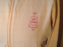 Light Pink Sweatshirt Zip Up Long Sleeve NAFNAF Lets Dance N on Back Size Large image 2