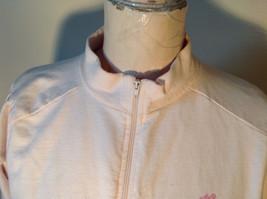 Light Pink Sweatshirt Zip Up Long Sleeve NAFNAF Lets Dance N on Back Size Large image 3