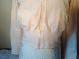 Light Pink Sweatshirt Zip Up Long Sleeve NAFNAF Lets Dance N on Back Size Large image 6