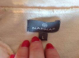 Light Pink Sweatshirt Zip Up Long Sleeve NAFNAF Lets Dance N on Back Size Large image 9