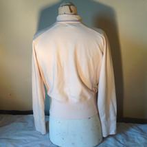 Light Pink Sweatshirt Zip Up Long Sleeve NAFNAF Lets Dance N on Back Size Large image 8