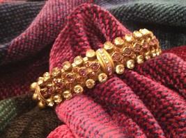 Pretty Sorrelli Cuff Bracelet Light Pink Gold 5 Inch Wrist Swarovski Elements - $168.29
