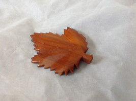 Pretty Wooden Maple Leaf Shaped Pin for Canada vintage
