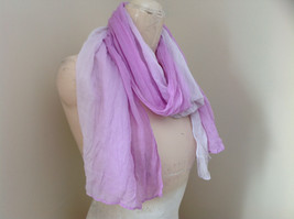 Light Purple Watercolor Scarf Length 65 Inches Width 24 Inches image 2