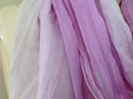 Light Purple Watercolor Scarf Length 65 Inches Width 24 Inches image 4