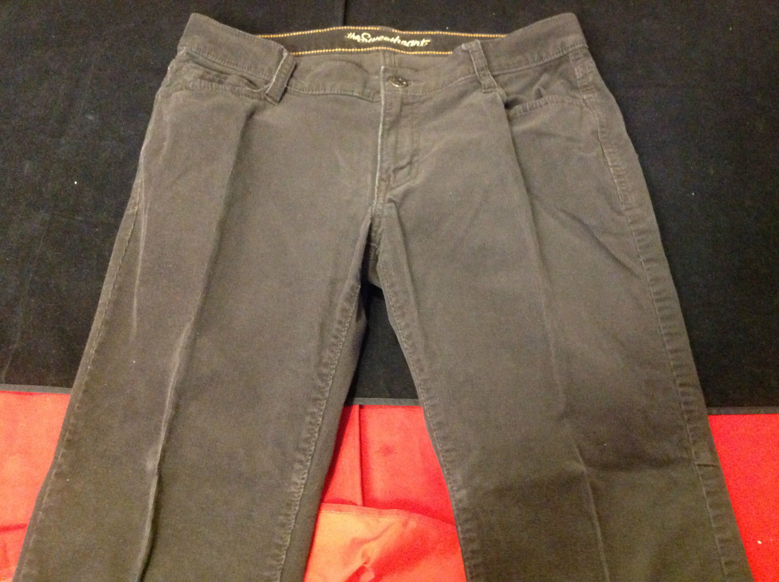 Old Navy Ladies Brown Corduroy Pants 97% Cotton 3% Spandex Size 8 Short