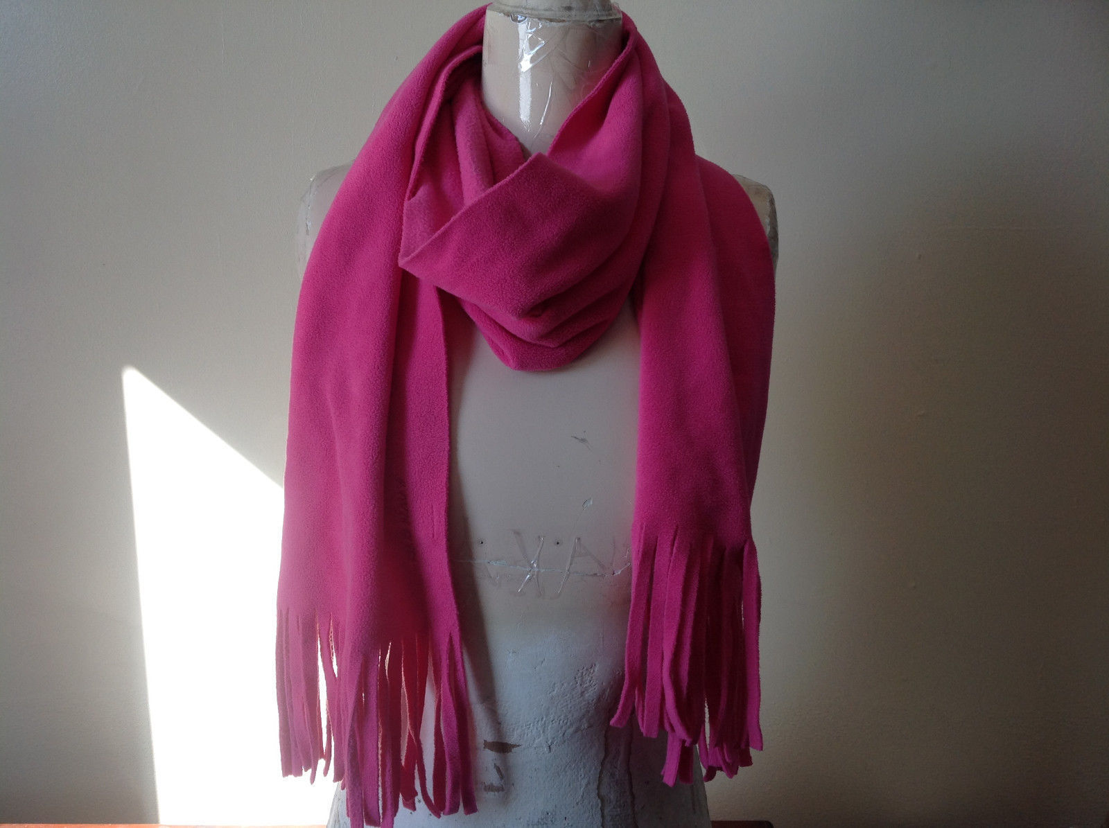 Old Navy Pretty Pink Tassle Fleece Scarf 68 Inches in Length