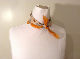 Old Fashion Themed Small Square Multi-Color Scarf or Necktie