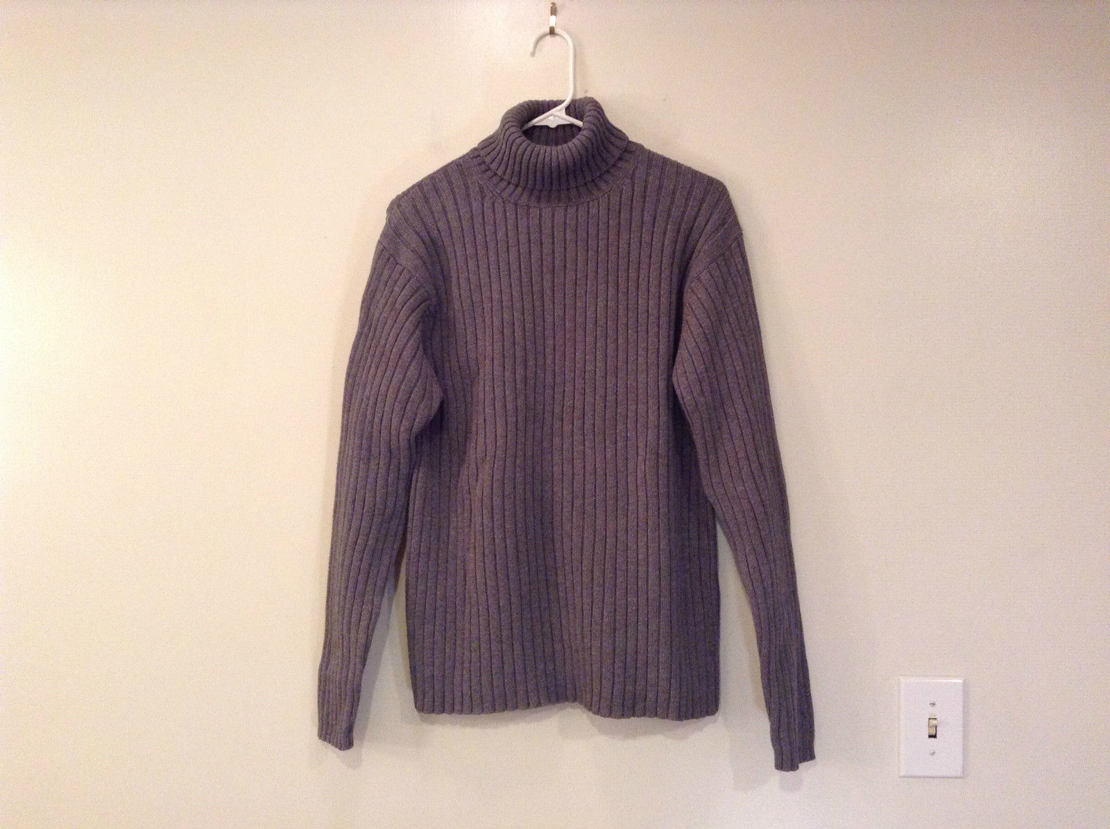 Old Navy Gray Long Sleeve 100 Percent Cotton Turtleneck Top  Size Large