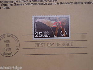 Olympic Commemorative Stamp 1988 souvenir page
