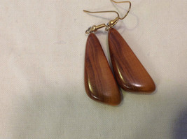 New w tags natural blonde and medium wood grained earrings Ukraine image 3