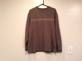 Olive Green Long Sleeve 100 Percent Cotton Sweater by Arrow Size XL