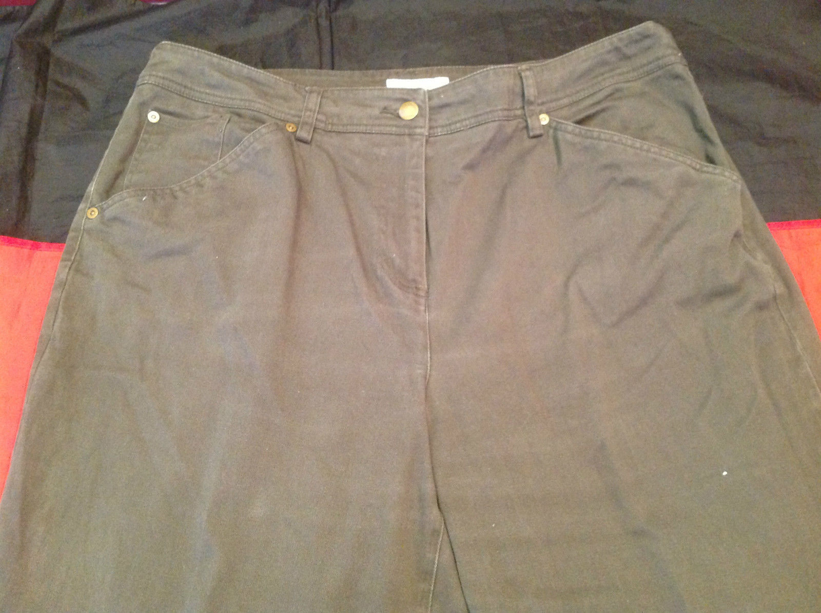Olive Colored Dressbarn Womens Pants Size 18W