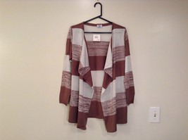 Ombre Brown & White Long Sleeve Cardigan One Size New w glitter sparkle image 1