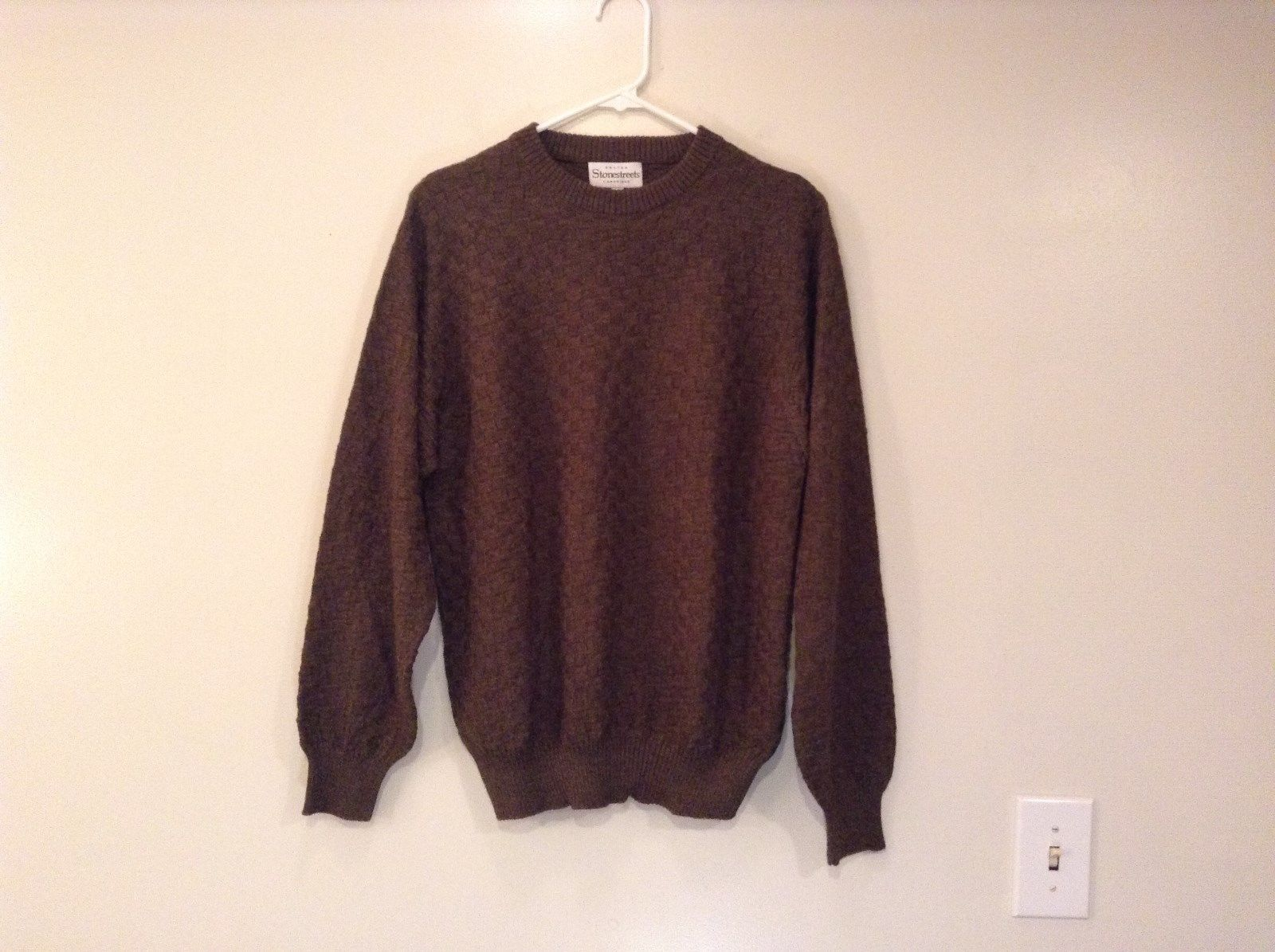 Olive Green Brown Long Sleeve Sweater Stonestreets Size Small Very Nice