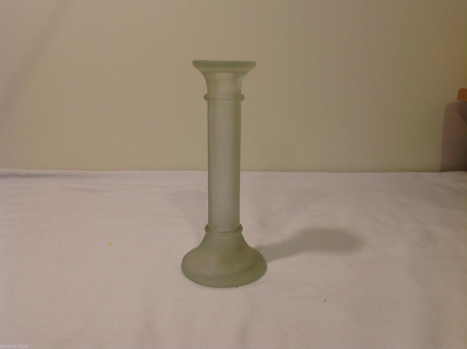 Opaque Glass Tall Candlestick Holder