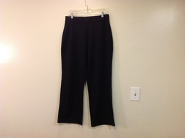 Only Necessities Woman Elastic Waist Casual Sport Stretch Black Pants, Size 18W