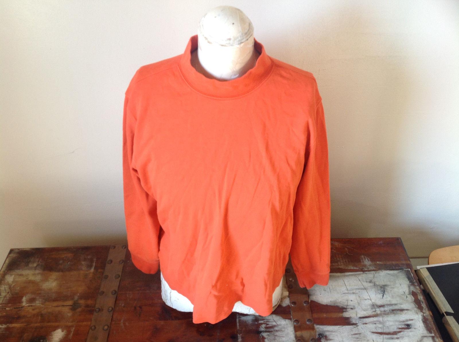 Orange Long Sleeve Lands End Sweatshirt Size Large 14 to 16