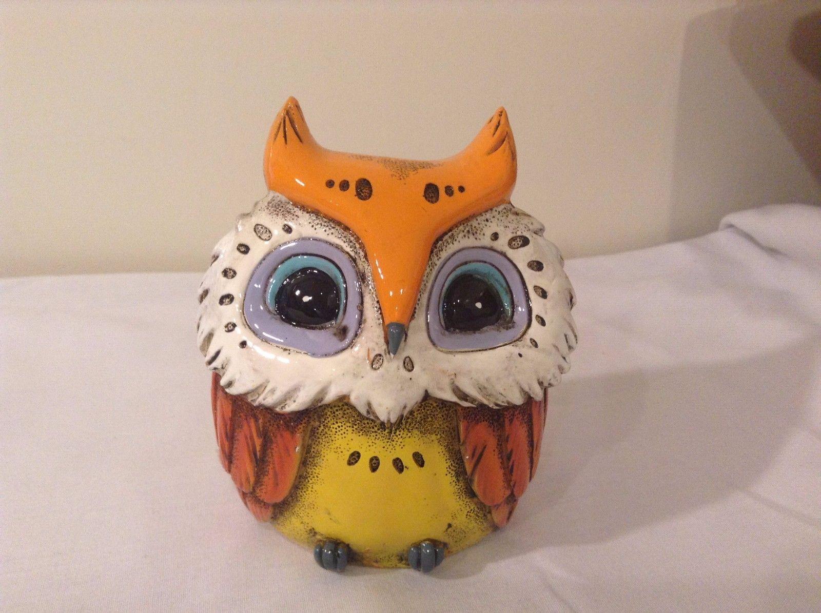 Orange Piggy Bank Owl New Original Packaging