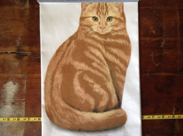 Orange Tabby Cat Dish Towel by Fiddlers Elbow Tag Attached image 1