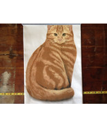 Orange Tabby Cat Dish Towel by Fiddlers Elbow Tag Attached - $34.99
