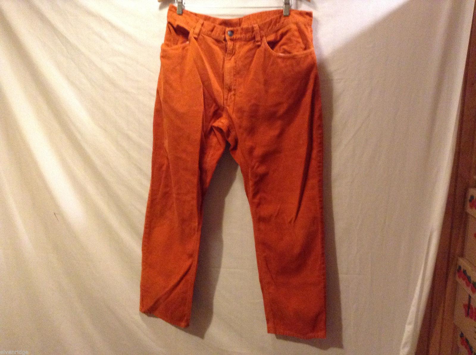 Orange Mens 100% cotton Corduroy Casual Pants , NO Size tag, Unlined
