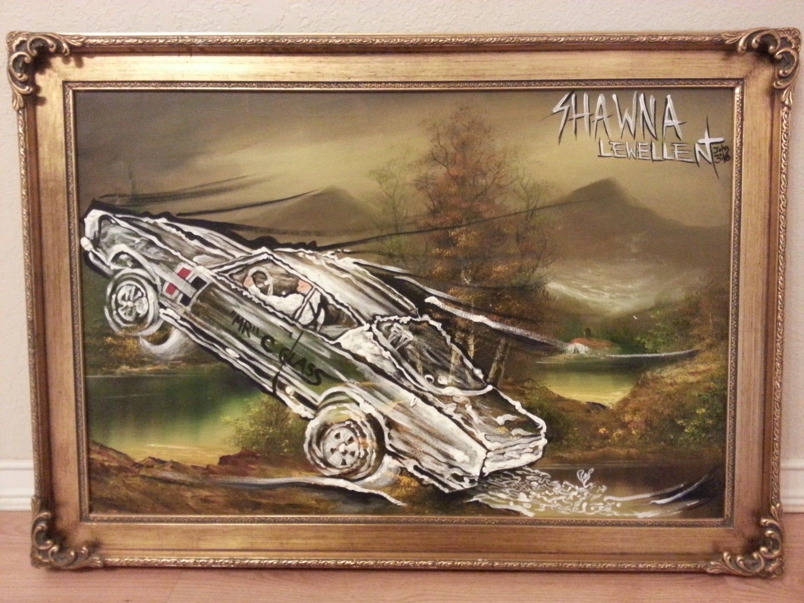 """Original Signed Oil on Canvas """"Let it Loose"""" for the Hot Rod Car enthusiast"""