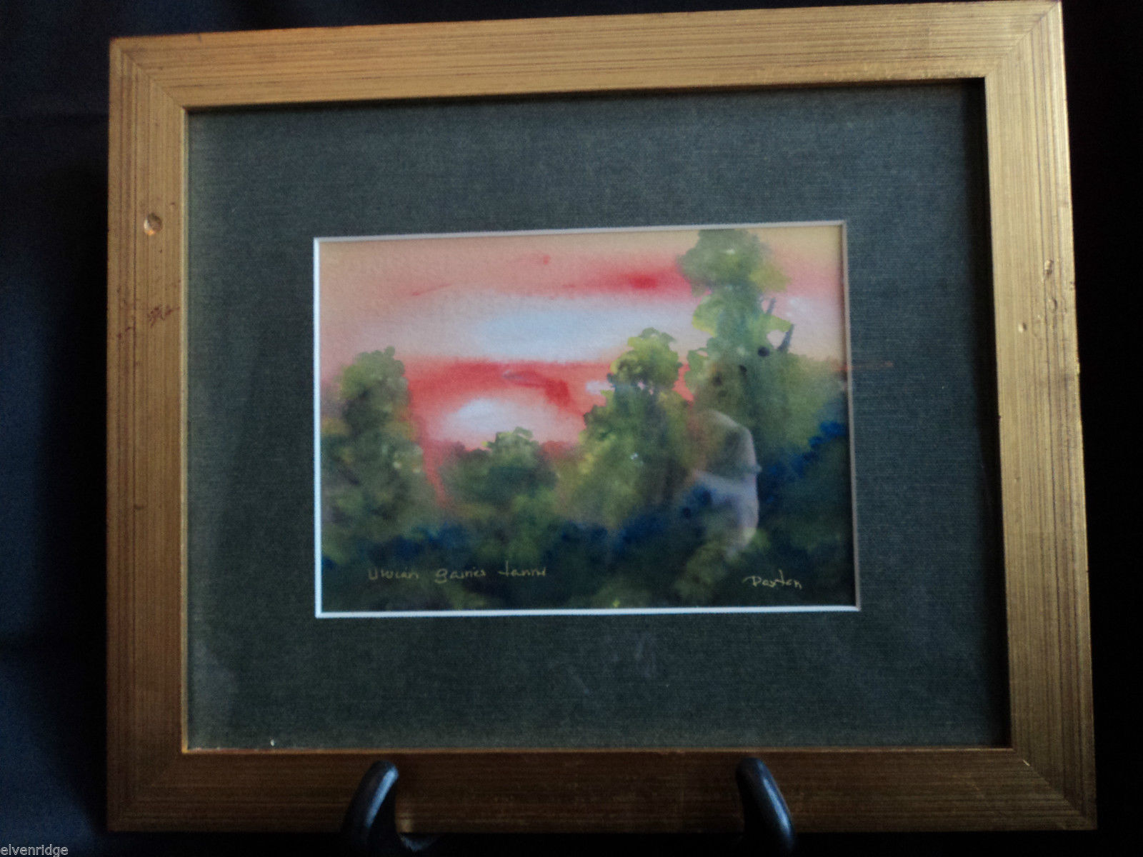 Original Water Color Painting of Hudson Valley pasture by Vivian Gaines Tanner