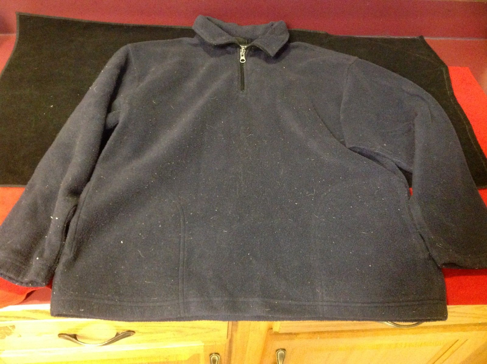 Outdoor Urban Terran Mens Blue Sweater Zipper Closure at Neck Size Medium