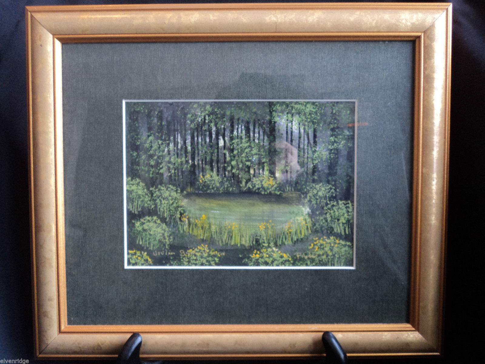 Original Water Color Painting of Hudson Valley woods by Vivian Gaines Tanner