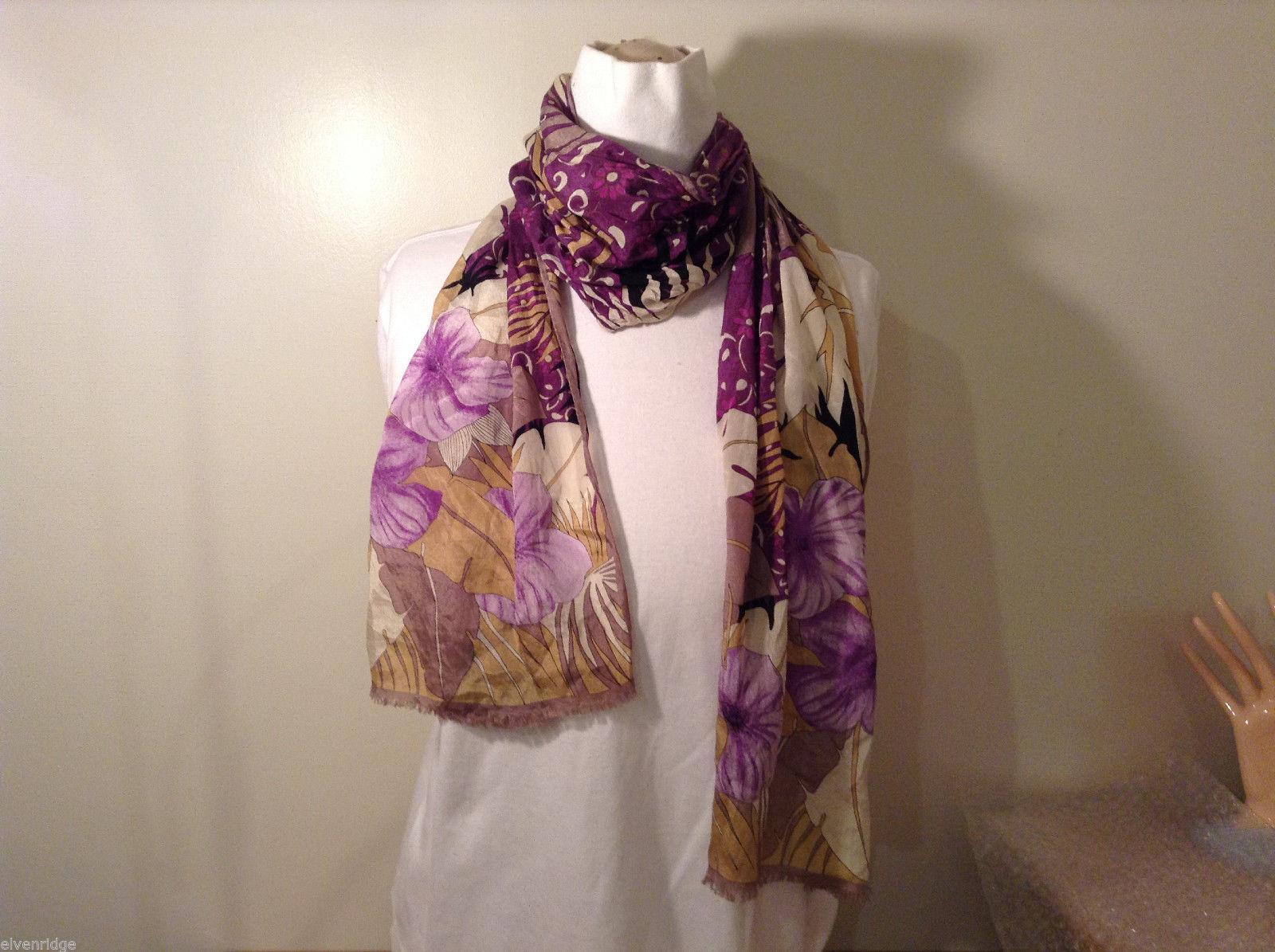 Oscar de la Renta flower pattern silk scarf