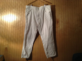 P J Mark White Casual Pants Size W42 by L32 Straight Fit Button Zipper Closure
