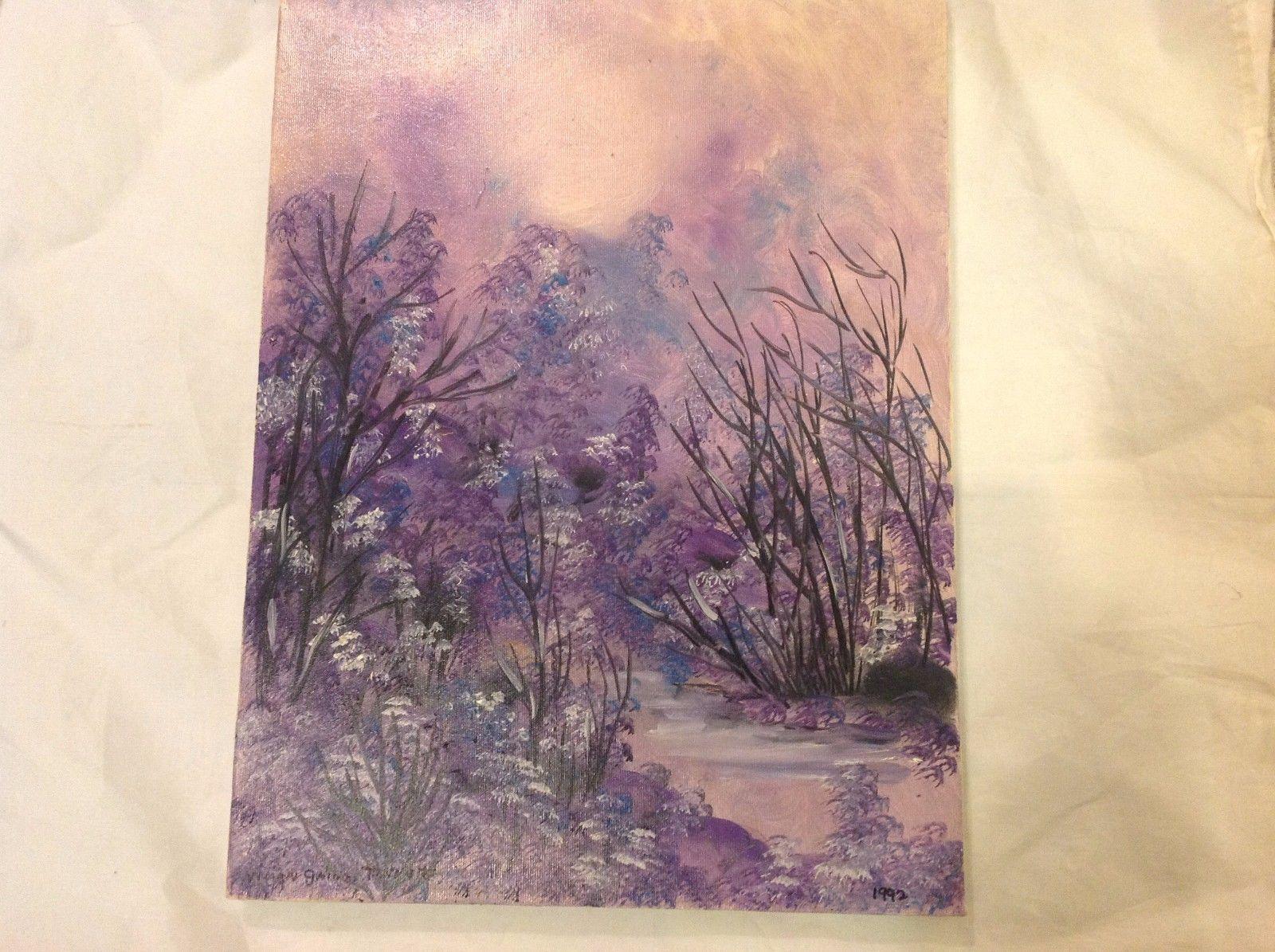 Painting Original Nature Winter Vivian Gaines Tanner Hudson Valley Artist