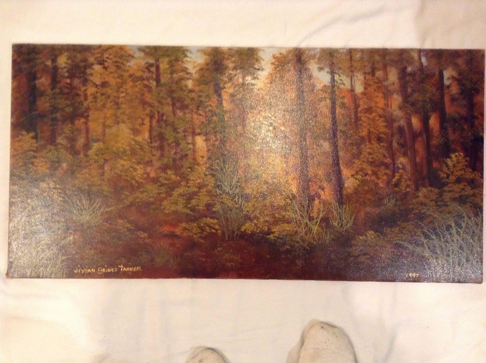 Painting Original Autumn Forest Vivian Gaines Tanner Hudson Valley Artist