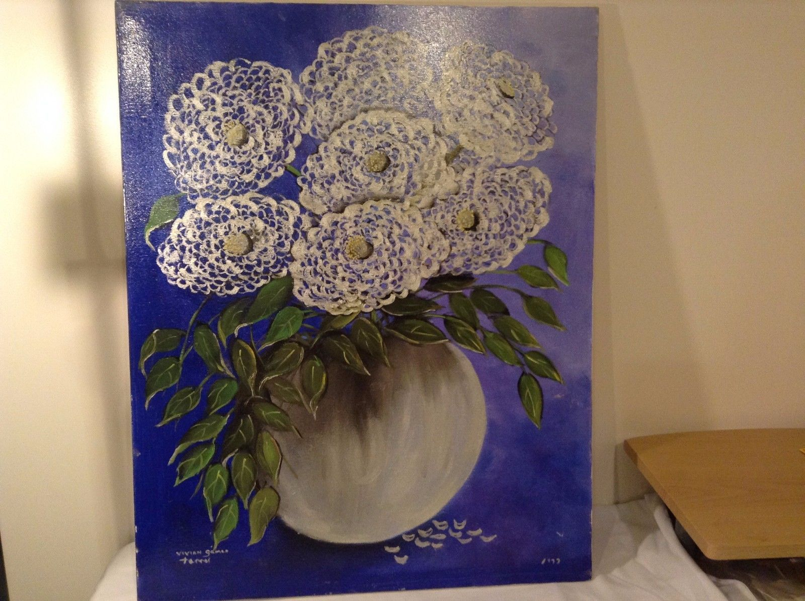 Painting Original Flower Bouquet Vivian Gaines Tanner Hudson Valley Artist