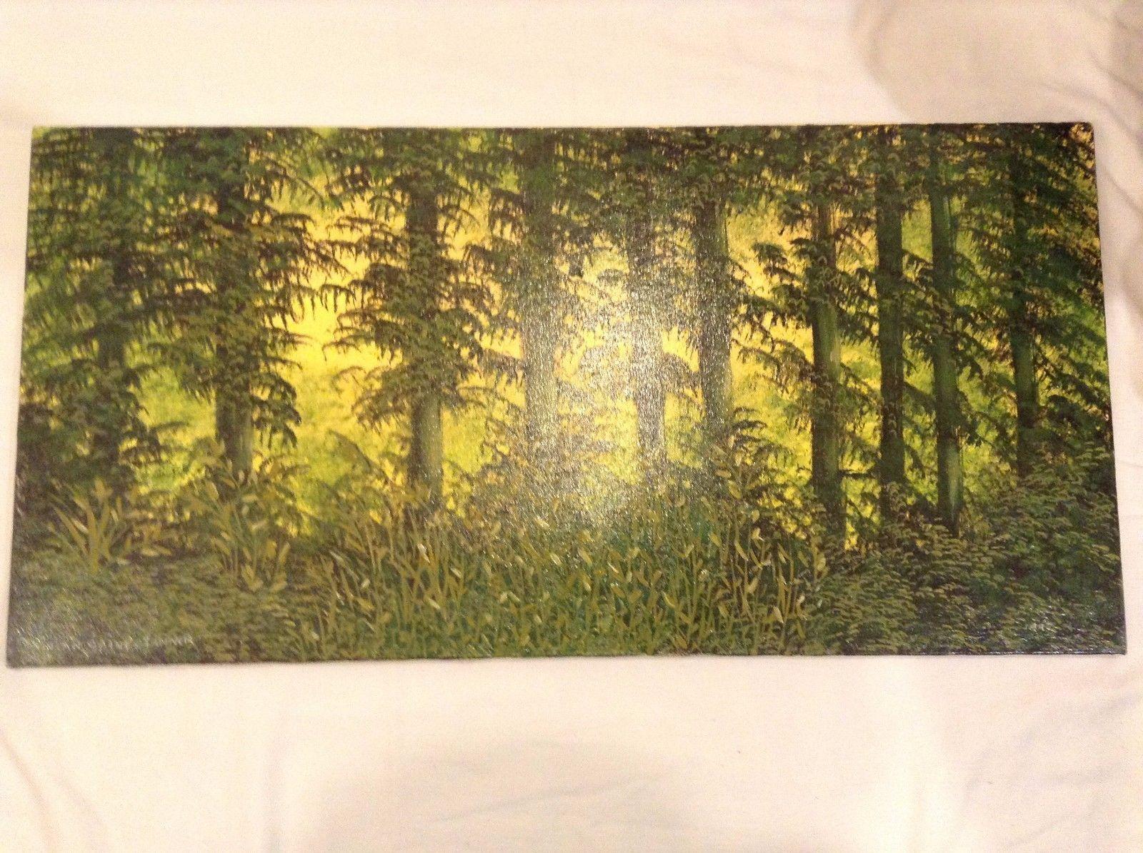 Painting Original Green Forest Vivian Gaines Tanner Hudson Valley Artist