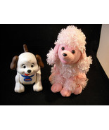 Pair of Motorized Dogs, Plush Poodle and Fisher Price Rolling Dog - $27.71
