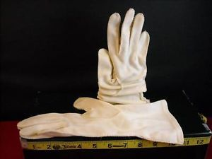 Pair of Vintage long Almond color Womans Gloves
