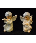 Pair of ceramic musical w lute and flute - $39.99