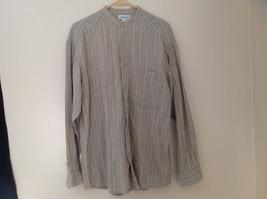 Pale Green Herringbone Button Up Long Sleeve Shirt Claiborne Size Medium