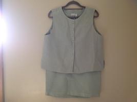 Pale Green matching Sleeveless Shirt and Skirt Set Eileen Fisher Size Size Small image 1
