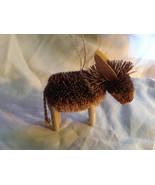 Palm Fiber Donkey Brush Animal Eco Fiber Sustainable Ornament - $39.99