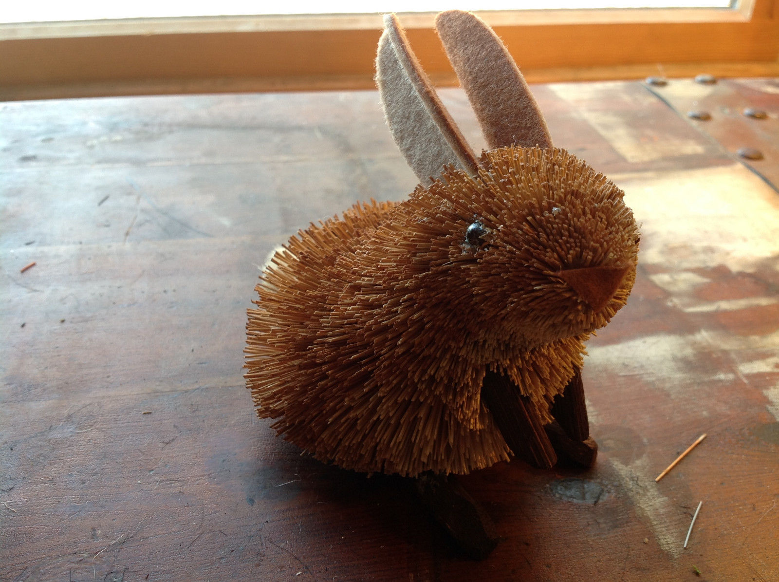 Palm Fiber Brown Rabbit  Brush Eco Fiber Sustainable Made in Philippines