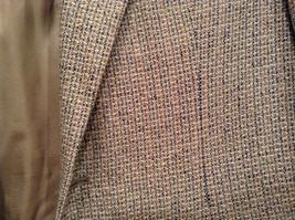 Norm Thompson Size 38R Beige Blue Plaid Suit Jacket Blazer Two Button Closure image 4